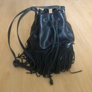 Ecote Leather and Suede fringe purse